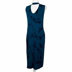 Belle Sky Tie Dye Turquoise Choker Dress